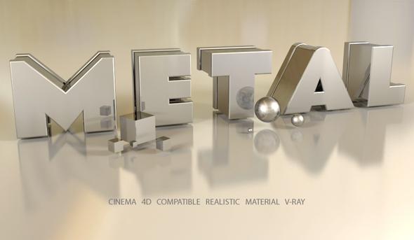 C4D V-Ray Metal Material - 3DOcean Item for Sale