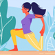 Young Woman in Training Stretching - GraphicRiver Item for Sale
