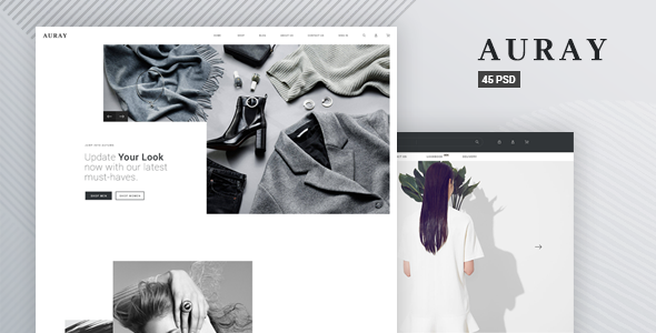 Auray - eCommerce PSD Template - Shopping Retail