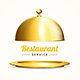 Realistic Detailed Shiny Golden Restaurant Cloche - GraphicRiver Item for Sale