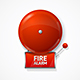 Realistic Detailed Red School Fire or Alarm Bell Set - GraphicRiver Item for Sale