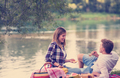 Couple in love enjoying picnic time - PhotoDune Item for Sale