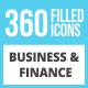 360 Business & Finance Filled Low Poly Icons - GraphicRiver Item for Sale