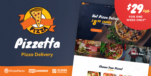 Pizzetta - Pizza, Cafe and Restaurant WordPress Theme