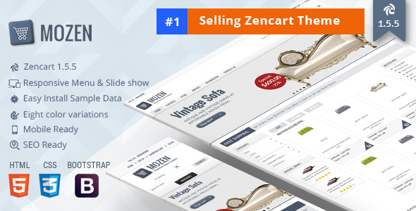 Mozen – Responsive Zencart Template