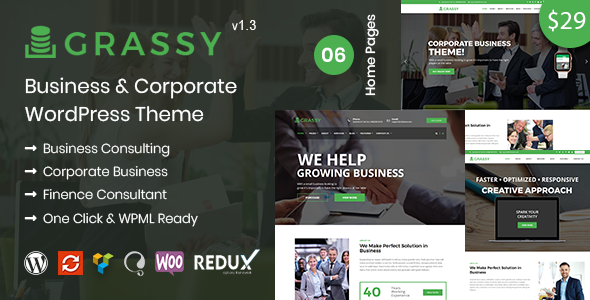 Grassy Business - Business WordPress Theme - Business Corporate