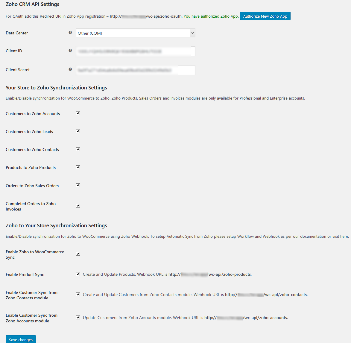 WooCommerce and Zoho CRM Connector