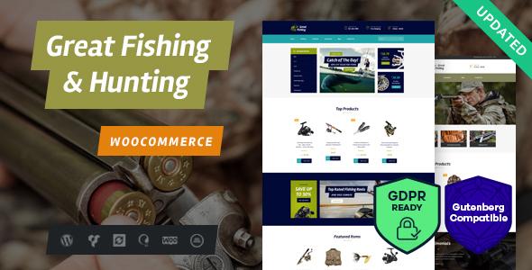 Fishing and Hunting WordPress Theme