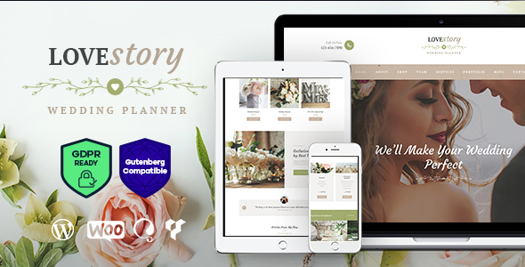 Love Story | A Beautiful Wedding and Event Planner WordPress Theme - Wedding WordPress