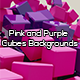 Pink and Purple Cubes Backgrounds - GraphicRiver Item for Sale