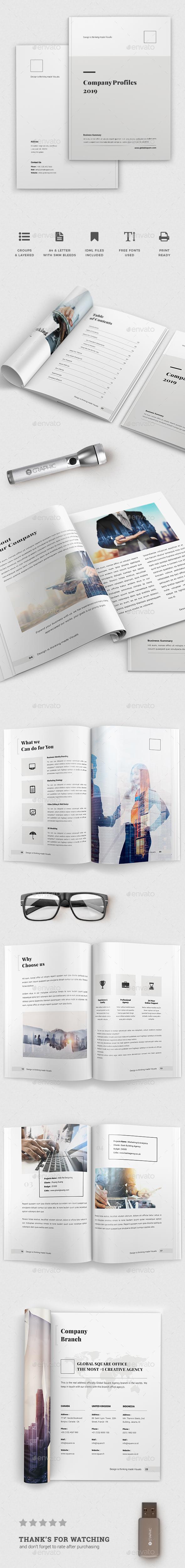 Mutlipurpose Corporate Brochure Template Vol. 28 - Brochures Print Templates