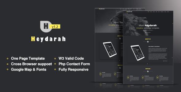 Heydarah - Portfolio Responsive HTML5 Template - Portfolio Creative