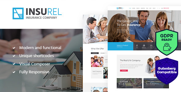 InsuRel | Insurance & Finance WordPress Theme