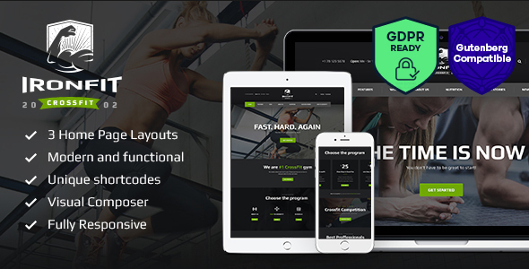 Ironfit - Fitness, Gym and Crossfit WordPress Theme - Health & Beauty Retail