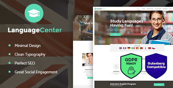 Language Center & Online School WordPress Theme - Education WordPress