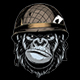 Gorilla in the Military Helmet - GraphicRiver Item for Sale