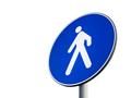 Signal of obligatory pedestrian path - PhotoDune Item for Sale