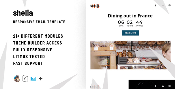 Shelia – Responsive Email + StampReady Builder - Email Templates Marketing