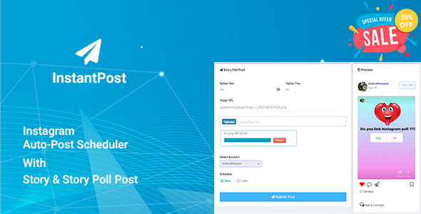Instantpost - Instagram Auto Poster Free Download | Nulled