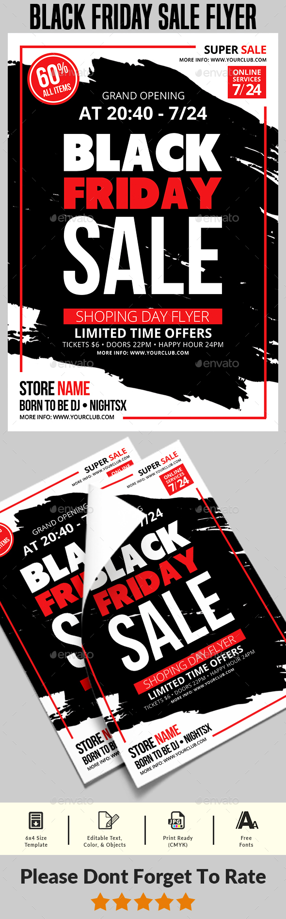 Black Friday Sale Flyer Templates - Commerce Flyers