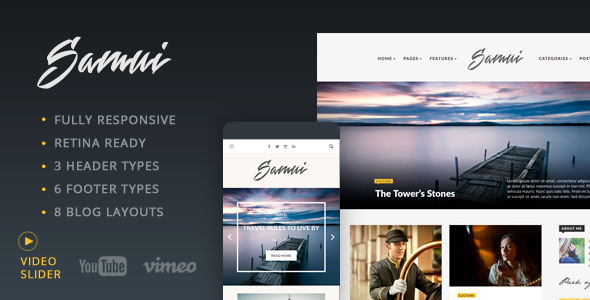 Samui - Responsive WordPress Blog Theme - Blog / Magazine WordPress