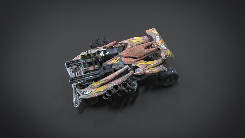 Red Spin Viper with interior and detail machine Hot Rod Mode plus Gatling