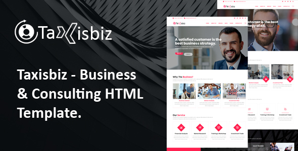 Taxisbiz – Consulting & Business HTML Template Free Download | Nulled