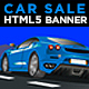Car Sales & Rental HTML5 Banners Ads | Animate CC - CodeCanyon Item for Sale