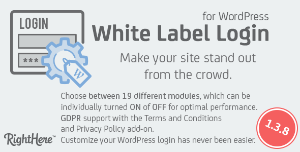 White Label Login for WordPress - CodeCanyon Item for Sale