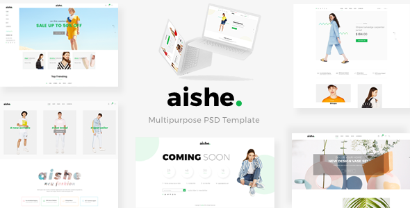 AISHE - Multipurpose PSD Template - Shopping Retail