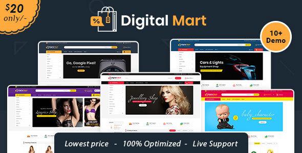 Digital Mart - Opencart Multi-Purpose Responsive Theme