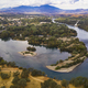 Aerial View Sacramento River Redding California Bully Choop Mountain - PhotoDune Item for Sale