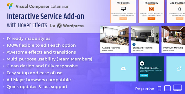Interactive Service Add-On with Hover Effects for Visual Composer - CodeCanyon Item for Sale
