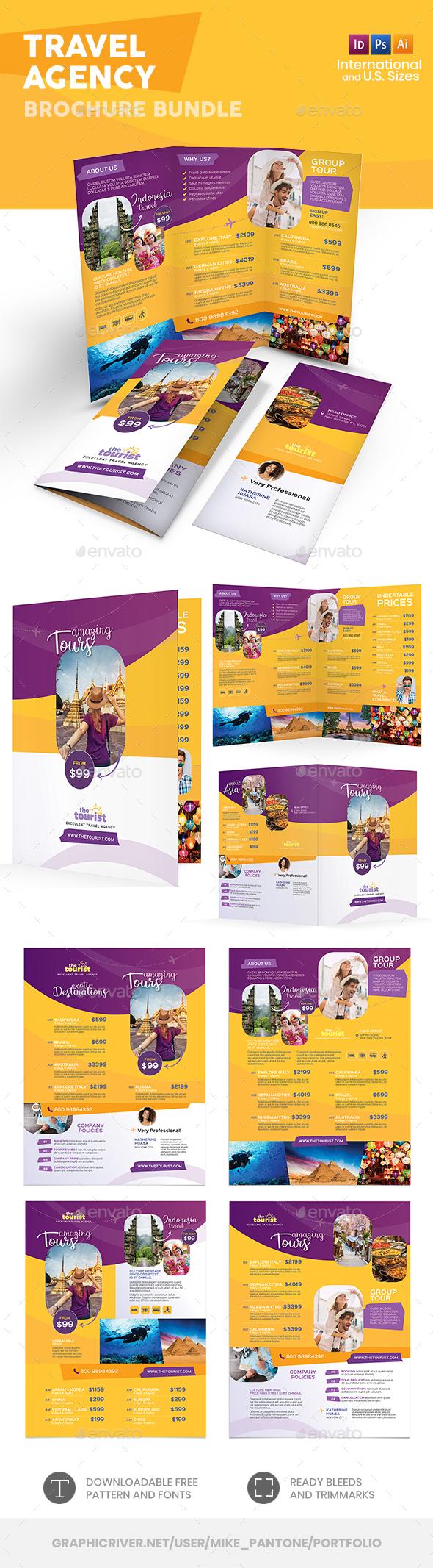 Travel Agency Print Bundle 4 - Informational Brochures