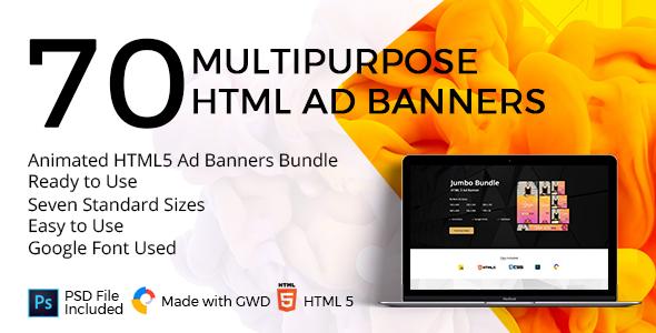 10 Animated HTML5 Ad Banners Bundle - CodeCanyon Item for Sale