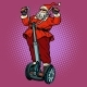 Santa Claus Biker with Christmas Gifts Rides - GraphicRiver Item for Sale