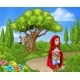 Little Red Riding Hood Fairy Tale Scene - GraphicRiver Item for Sale