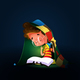 Boy Reading Book With Torch Under Duvet - GraphicRiver Item for Sale
