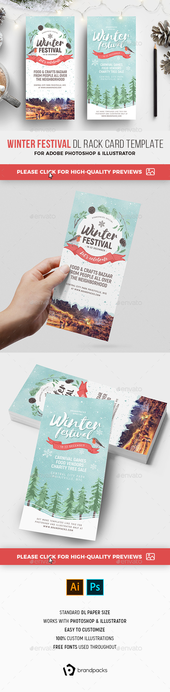 Winter Festival DL Rack Card - Holidays Events