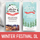 Winter Festival DL Rack Card - GraphicRiver Item for Sale