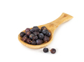 Dried juniper berries in wooden spoon isolated on white - PhotoDune Item for Sale