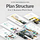 Plan Structure Pitch Deck 3 in 1  Bundle Keynote Template - GraphicRiver Item for Sale