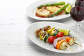 halloumi cheese vegetables skewers kebab - PhotoDune Item for Sale
