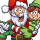 Santa Carrying Elf - GraphicRiver Item for Sale