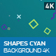 Shapes Cyan Background - VideoHive Item for Sale