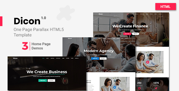 Dicon - One Page Parallax Html5 Template