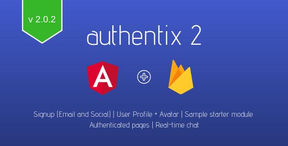 Authentix v2 | Angular + Firebase User Management System - CodeCanyon Item for Sale