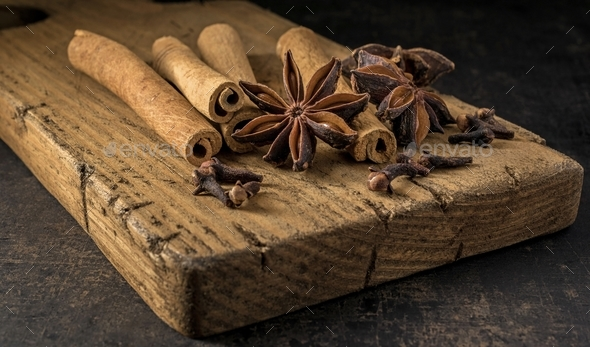 Ingredients for mulled wine - Stock Photo - Images