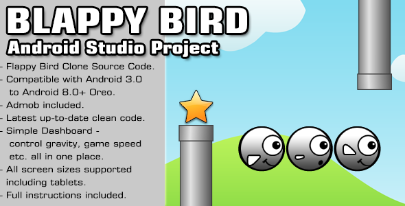 Blappy Bird Source Code - Android Studio Project - CodeCanyon Item for Sale