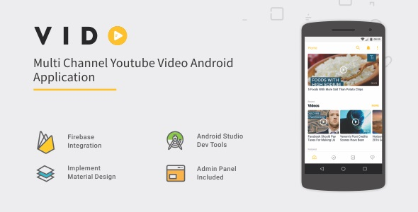 Vido - Android Youtube Multi Channel 1.2 - CodeCanyon Item for Sale